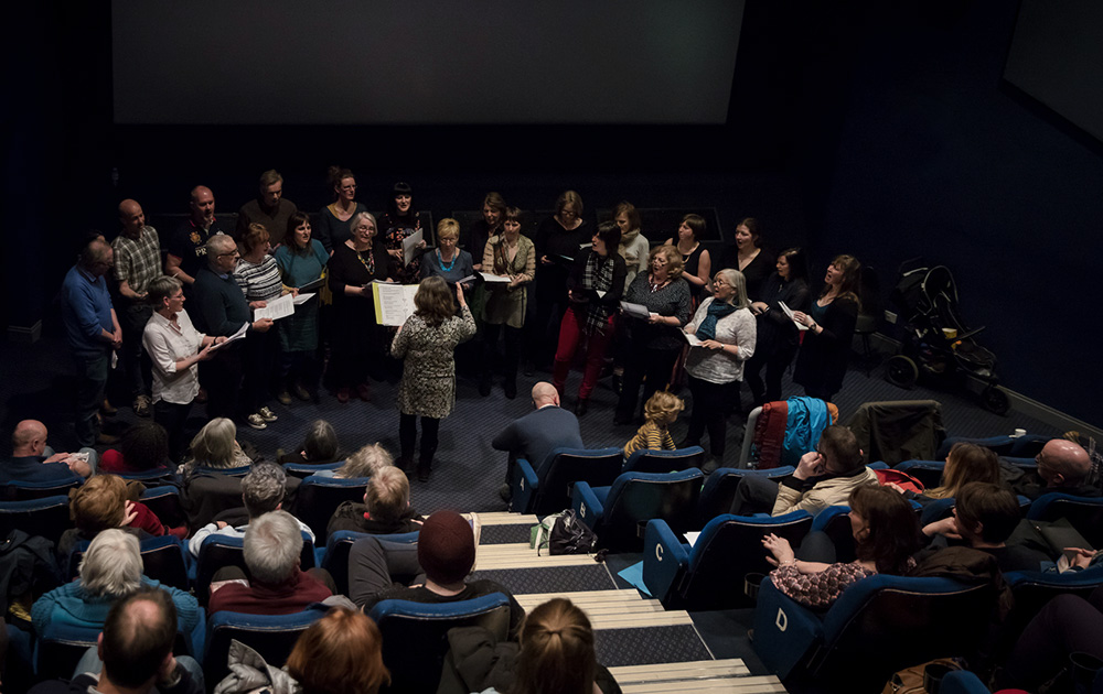 Against the Flow, Helen McCrorie, screening with choir, Perth Playhouse Cinema, 2018